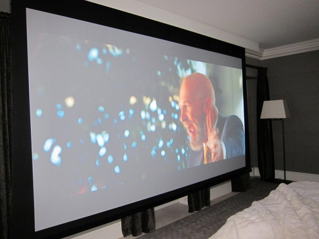 Amazing Commercial Grade Projector In A... Bedroom!